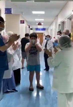 UAE Youngest Coronavirus patient recovery Abu Dhabi Sheikh Khalifa Medical city birthday Sheikh Mohammed frontline workers Covid-19 Coronavirus