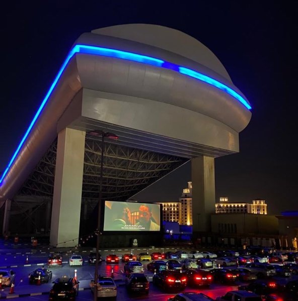 Vox Cinemas drive-in cinema mall of the emirates outdoor film