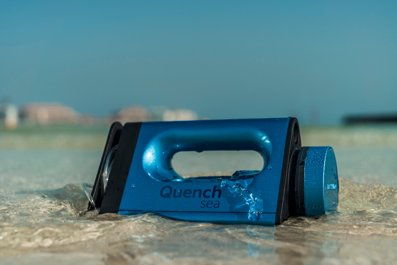 Quench sea making world's cheapest portable desalination device freshwater seawater Dubai UAE startup