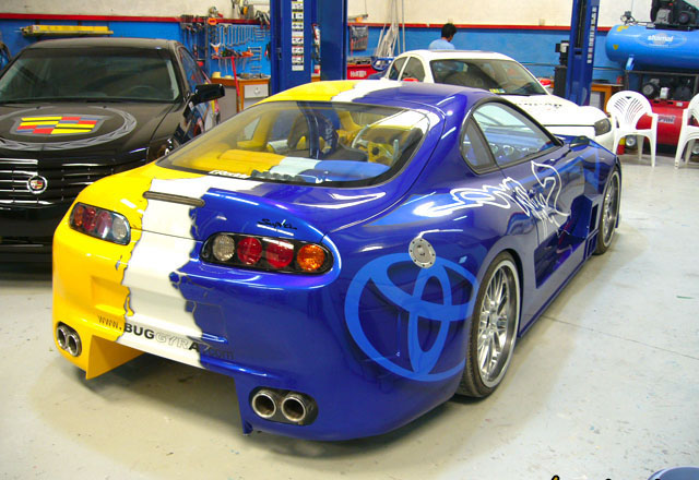 Toyota Supra andoned collecting dust in dubai umm ramool jdm mk4 japan