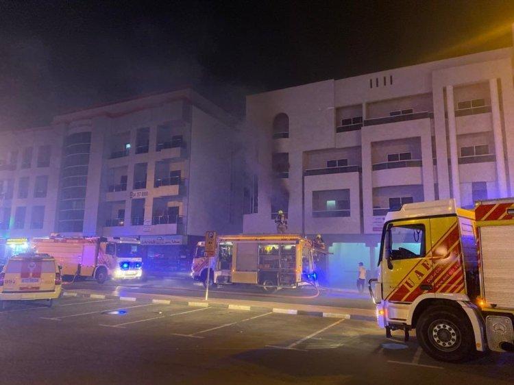 Oud Metha Dubai fire building civil defence lamcy plaza
