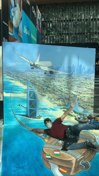 Dubai Canvas 3D street art murals city walk august 2020