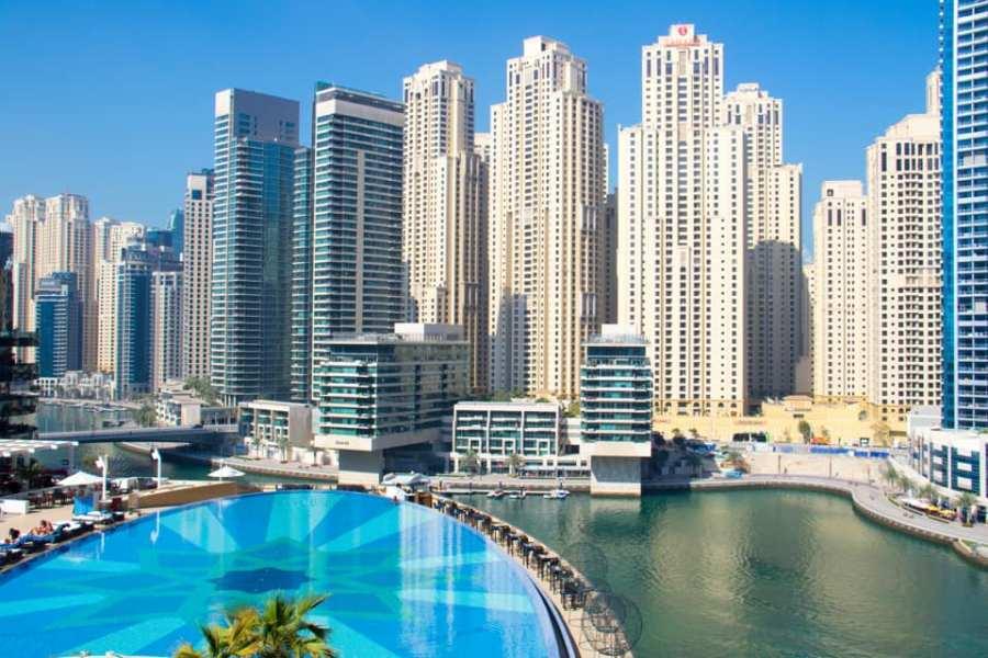 Wane by somiya address dubai hotel marina gets tiger gorilla statues flying helicopter dubai style