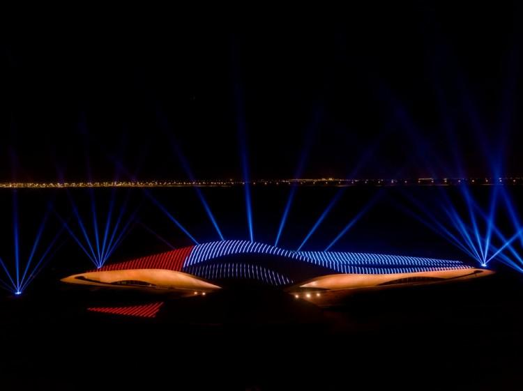 Abu Dhabi UAE Light show UAE 49th National Day celebrations