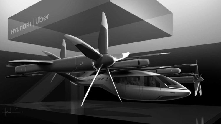 Hyundai Uber flying taxi concept autonomous at GITEX technology week 2020 tech technology future